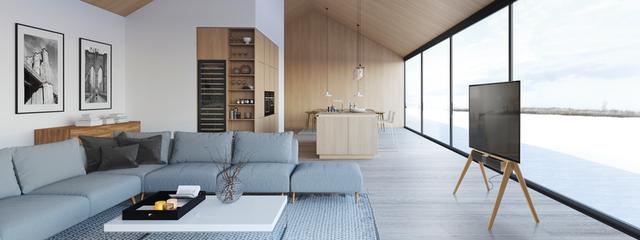 El soporte de pie de madera NEXT OP2 de Vogel's, galardonado con un iF Design Award 2020 - Electroimagen